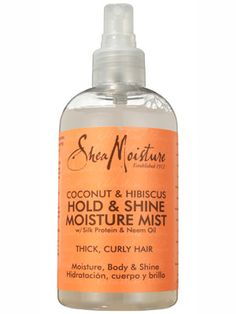 This all-natural Shea Moisture Coconut & Hibiscus Hold & Shine Moisture Mist works like a leave-in conditioner, boosting shine but softening and detangling, too....