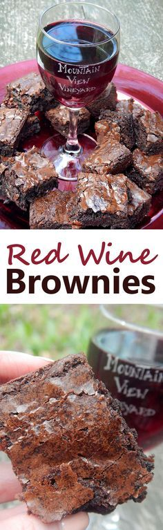 Brownies made with red wine. This is the easiest recipe ever for infusing brownies with wine. It's the perfect dessert for a girls' night in, 21st birthday, or bachelorette party.