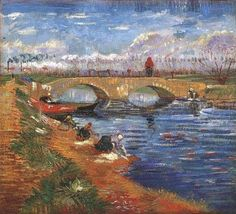 Vincent van Gogh (Dutch, Post-Impressionism, 1853-1890): The Gleize Bridge over the Vigueirat Canal, 1888. Oil on canvas, 46.8 x 51.3 cm (18.4 x 20.2 inches). Pola Museum of Art, Hakone, Kanagawa Prefecture, Japan.