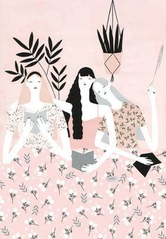 Gorgeous illustrations by Alessandra Genualdo, posted on the blog today: http://www.artisticmoods.com/alessandra-genualdo/
