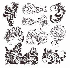 vector vintage patrones para el diseño