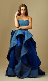 Multicolored shweshwe and blue dress
