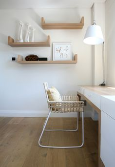 Michele Throssell Interiors > study > neutrals > wood > white