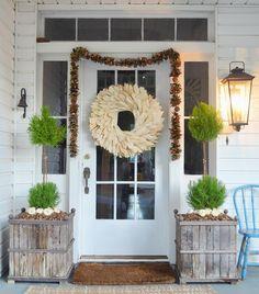 Fall Farmhouse Porch | Little White House Blog