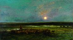 Daubigny, Moonrise at Auvers, 1877, Montreal.jpg