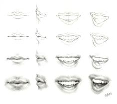 Image result for mouth drawing step by step