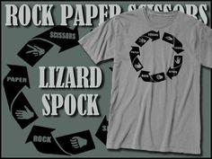 Big Bang Theory TShirt Rock Paper Scissors Lizard Spock Clothing, Sheldon Cooper shirt by skarekrowgraphics on Etsy