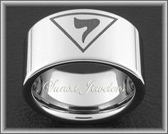 Freemason Tungsten Ring Engraved with Masonic Grand Elect Mason Emblem.  FREE Inside Engraving! Sunsetjewelers.com