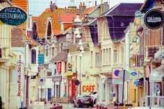 Town centre, Le Touquet, northern France. An original photograph by Road, Rail And Sea. If you want advice about travelling by road, rail or sea you can contact us at info at roadrailandsea dot co dot uk