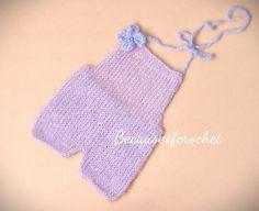 Knitting PATTERN Newborn Baby Mohair ROMPER by becauseofcrochet