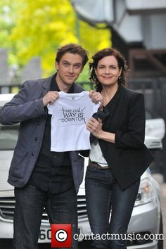Dan Stevens (Matthew Crawley) and Elizabeth McGovern (Cora) from Downton Abbey    I'm done, I swear.