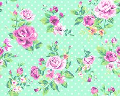 Seamless flowers pattern vector 03