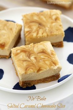 This Thermomix Salted Caramel Cheesecake Slice is so quick and easy to prepare… AND it's totally addictive! Best of all, it's completely no-bake, so there's no need to turn the oven on! Caramel Mud Cake, Salted Caramel Cheesecake, Caramel Crunch, Cheesecake Recipes, Thermomix Cheesecake, No Bake Desserts, Delicious Desserts, Dessert Recipes, Yummy Food