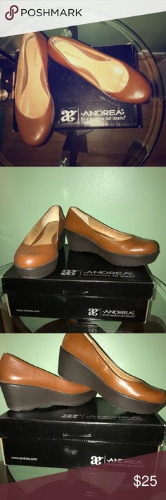 Andrea shoes Brown/Black Lovely shoes confortable to wear. I have used them twice. Andrea Shoes Platforms