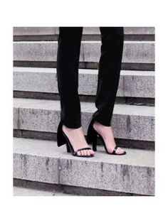 Simple & Sexy Thick Heel Sandals