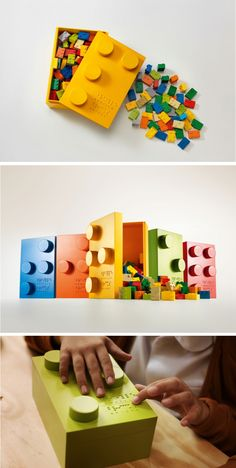 Braille Bricks aim to stimulate creativity and help blind children learn to read and write.