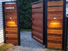 Wooden Gate Designs, Wood Fence Design, Privacy Fence Designs, Front Gate Design, Main Gate Design, House Gate Design, Barn Door Designs, Door Gate Design, Garage Door Design