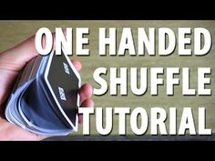 How to Do a One-Handed Shuffle | Magic Card Flourishes - YouTube