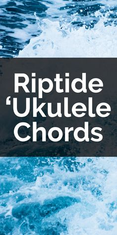 Learn how to play the ukulele chords and strum to Vance Joy's Riptide. Includes info on Vance's alternate tuning and tips you need to make it sound great. Ukulele Songs, Vance Joy, Sounds Great, Lyrics, Play, Learning, Live, Music Lyrics