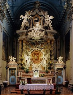 Madonna della Porta The high altar in the basilica of Our Lady of the Gate in Guastalla, Italy.