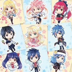 FAIRY TAIL CHIBI COLLAGE.... made by - DIPTISHREE