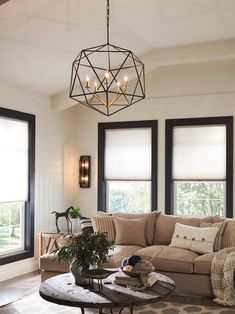 Shop this hinkley lighting astrid metallic matte bronze six-light wide chandelier from our top selling Hinkley Lighting chandeliers. LuxeDecor is your premier online showroom for lighting and high-end home decor. High Ceiling Living Room, Living Room Light Fixtures, Chandelier In Living Room, Modern Chandelier, Lights For Living Room, Cage Light Fixture, Dining Chandelier, Transitional Living Rooms, Living Room Modern
