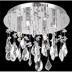 @Overstock - This four-light chrome chandelier features beautiful cyrstal drops and a sturdy metal frame. The four-light halogen bulb design ensures that any room is illuminated with brilliance.http://www.overstock.com/Home-Garden/Chrome-4-Light-Chandelier/6428259/product.html?CID=214117 $182.99