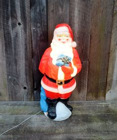 Outdoor Light Up Santa Vintage toy soldier nutcracker plastic blow mold light up yard vintage empire santa claus blow mold 33 plastic light up indoor outdoor christmas decoration red white blue working 1970s workwithnaturefo