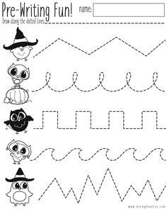 Pre-Writing Practice Halloween Worksheet