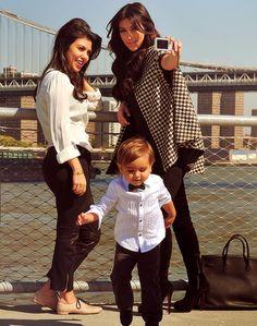 The Kardashians ... Kourtney , Kim & Baby Mason