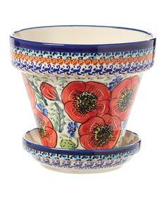 Bellisima Flower Stoneware Pot