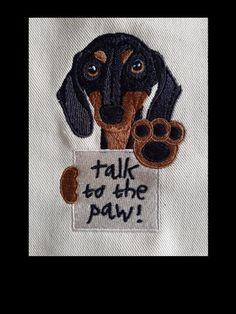 Machine embroidery design dog Little hunter two sizes Machine Embroidery Patterns, Embroidery Files, Sewing Patterns, Craft Shop, Layers Design, Dog Design, Dachshund, Cute Dogs, Artwork