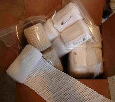 The DOVE Fund Bandage Brigade - knit and crochet bandages for lepers in Vietnam made from size 10 cotton thread