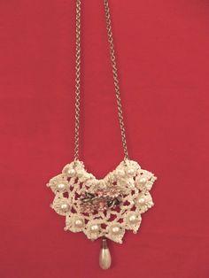 Vintage Doily Necklace.