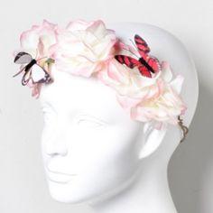 Roses and Butterflies Headband