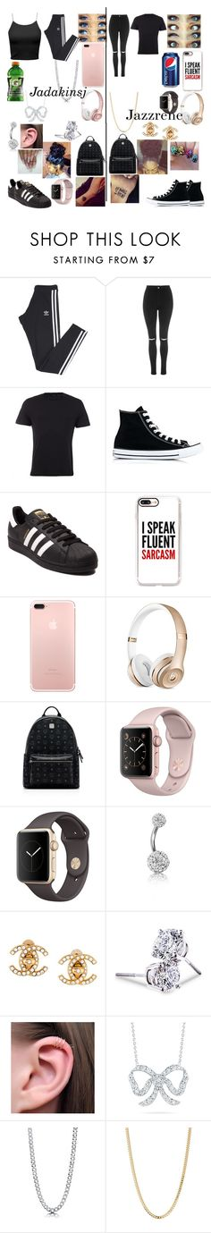 """What you will see us wearing"" by jadakinsj ❤ liked on Polyvore featuring adidas, Topshop, Gucci, Converse, Casetify, Beats by Dr. Dre, MCM, Bling Jewelry, Chanel and Lord & Taylor"
