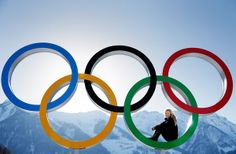 SOCHI, RUSSIA - FEBRUARY 04: Christy Prior of New Zealand poses for a picture with the Olympic Rings at the Athletes Village ahead of the Sochi 2014 Winter Olympics on February 4, 2014 in Sochi, Russia. (Photo by Adam Pretty/Getty Images)
