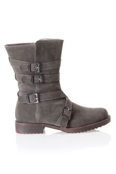 Grey Strappy Boot... I will HAVE