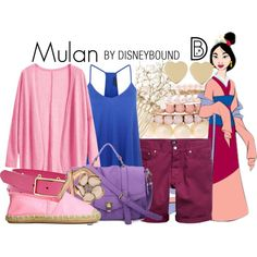 Mulan by leslieakay on Polyvore featuring Shaun Leane, Kate Spade, Lipsy, FOSSIL, claire's, disney, disneybound and disneycharacter