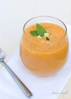 Peach Gazpacho - Savory Simple