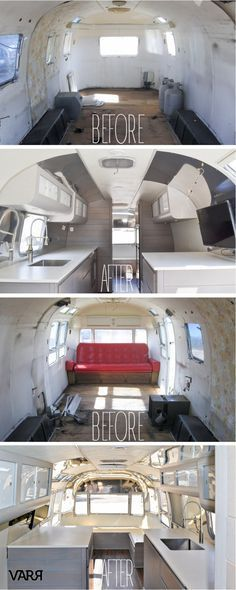 Before & Afters of a 1975 Sovereign 31' Restoration - VARR - Vintage Airstream Restorations & Repairs - Specializing in polishing and customization.