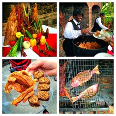 Food from Chef John Folse at White Oak Plantation, Baton Rouge, LA #TravelToBR #GoBR