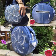 Denim Bags From Jeans, Denim Purse, Jeans Denim, Handbag Tutorial, Felt Pouch, Creative Bag, Ethnic Bag, Denim Crafts, Quilted Bag