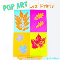 """POP ART LEAF PRINTING Kids will love making vibrant leaf art with this printing technique. It takes a classic leaf prints painting activity from """"meh' to """"WOW!"""""""