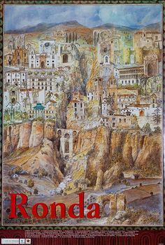 DP Vintage Posters - Ronda Spain, Original Spanish Travel Poster