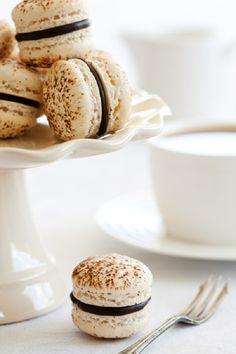 tiramisu macaron with ganache filling #recipe