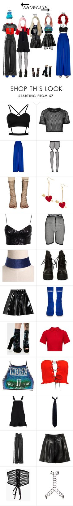 """""""BABY (아기) — Debut Showcase"""" by officialbaby ❤ liked on Polyvore featuring Topshop, Hebe Studio, Bohemian Society, CÉLINE, Ana Accessories, UNIF, Boohoo, Vetements, Nasty Gal and Shellys"""