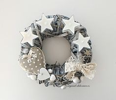 Christmas Crafts, Christmas Decorations, Holidays And Events, Burlap Wreath, Advent, Wreaths, Winter, Home Decor, Winter Season