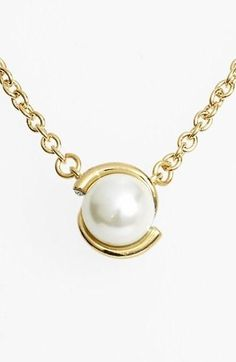 'dainty sparklers' faux pearl pendant necklace. In Stock, Color: Cream, Price: $35.38. #pendantnecklaces