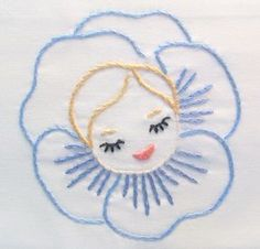 Moxie Fab World: Five for Friday: A Panorama of Pansies Hand Embroidery Patterns Flowers, Hand Embroidery Videos, Embroidery Works, Hand Embroidery Designs, Embroidery Applique, Cross Stitch Embroidery, Needlework, Crochet, Pansies